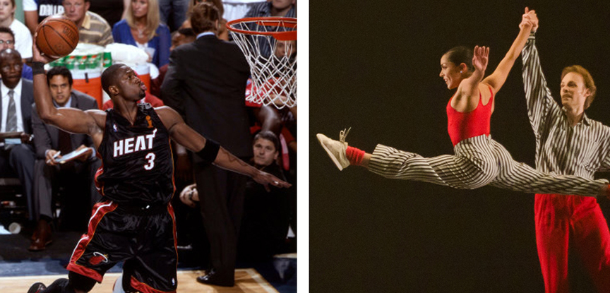 a comparison of dancing and basketball